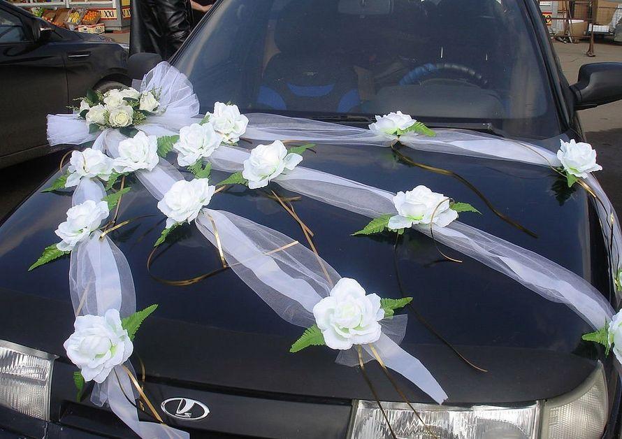 Свадебные украшения на машину из лент своими руками