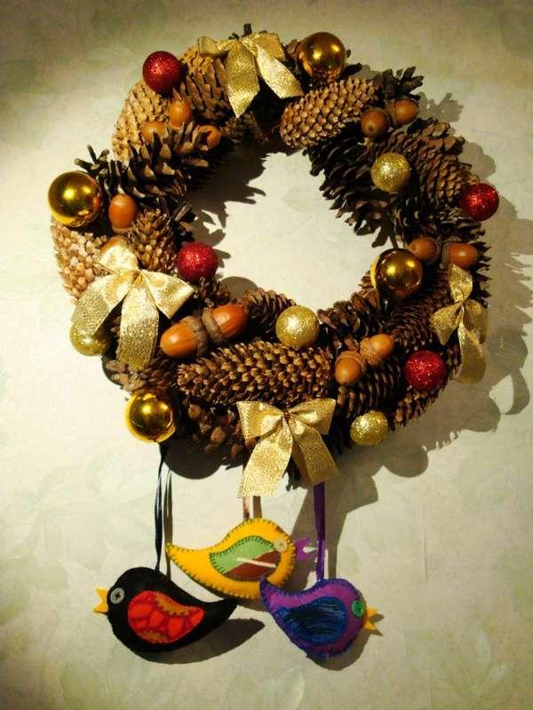 Рождественский венок - фото 9450218 Мастерская флорариумов Юлии Шумилкиной