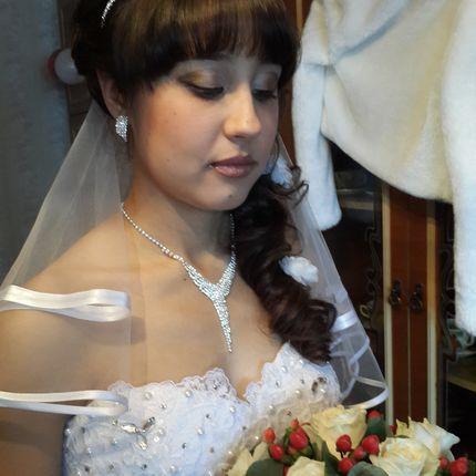 Прически свадебные и макияж