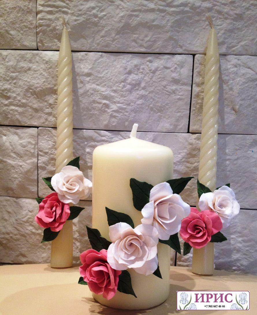 """Фото 9394688 в коллекции Свадебные фужеры, свечи - Мастерская аксессуаров из глины """"Ирис"""""""