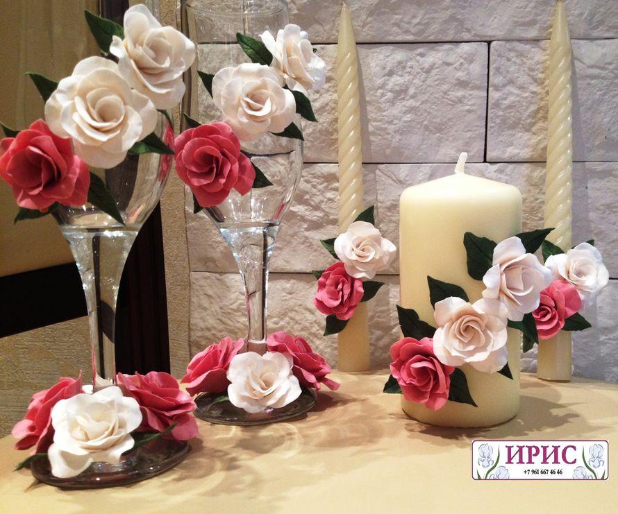 """Фото 9394690 в коллекции Свадебные фужеры, свечи - Мастерская аксессуаров из глины """"Ирис"""""""