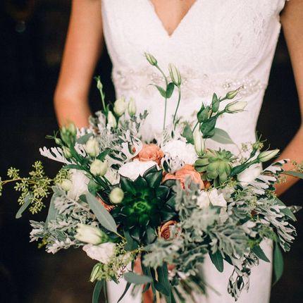 Букет невесты +бутоньерка
