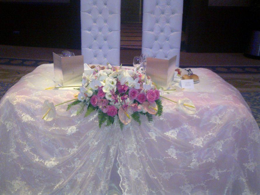 оформление стола жениха и невесты отель Калиста Анталья - фото 1020081 TUANA Организация свадьб и торжеств в Анталии