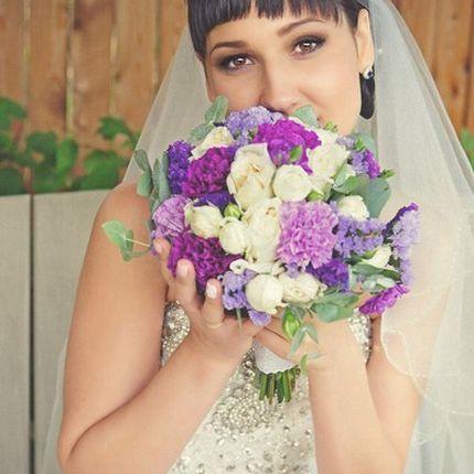Пробный макияж и прическа для невесты