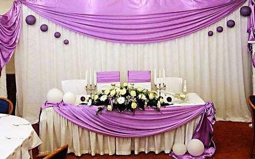 Украшение для свадебного стола жениха и невесты своими руками