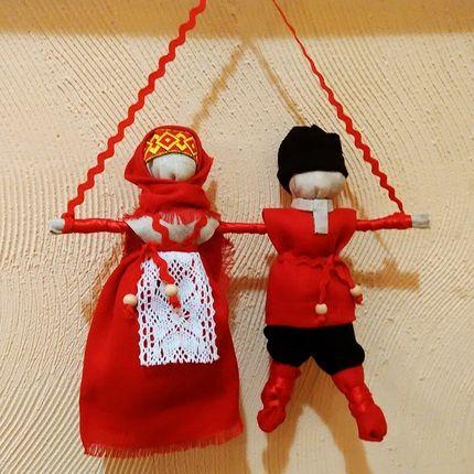 """Семейный оберег: кукла """"Неразлучники"""""""