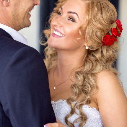 Свадебная причёска для коротких волос