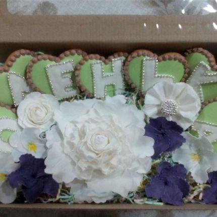 Пряничный набор с сахарными цветами