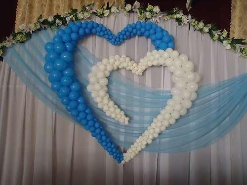 Как сделать из шаров сердце на свадьбу