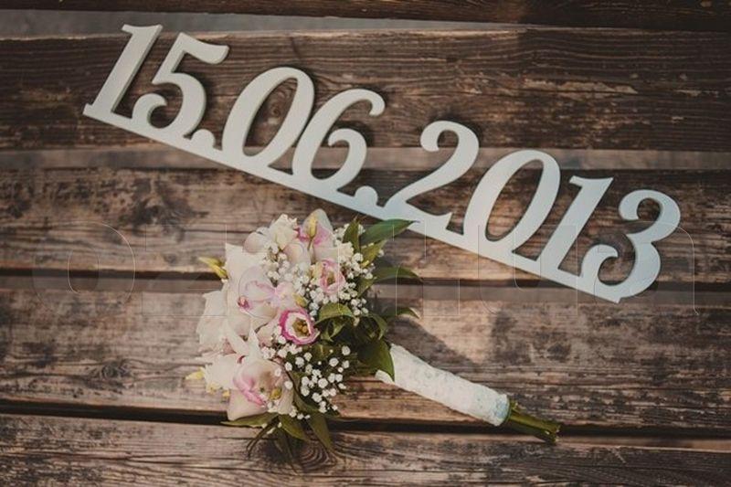 таком фотосессия с датой свадьбы навсегда