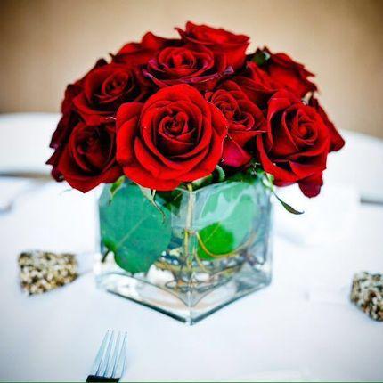 Флористические композиции на столы ггостей