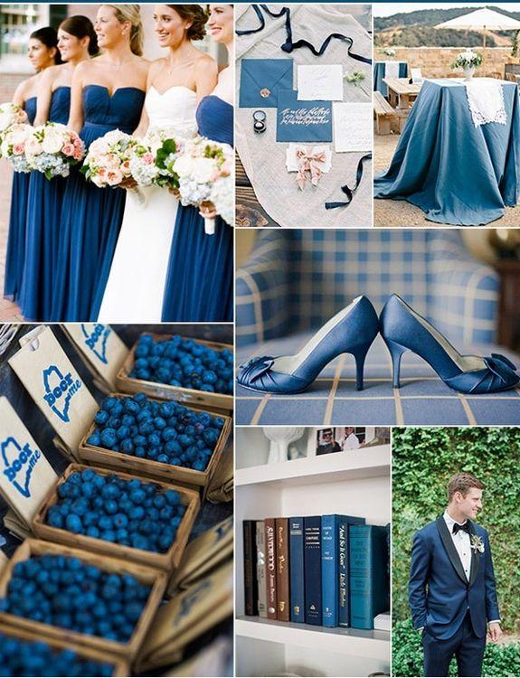 Энергичный синий. Свадьба