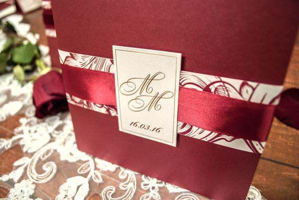 """Пригласительная открытка """"Марсала"""" - фото 10072368 Anna Love приглашения и бонбоньерки на заказ"""
