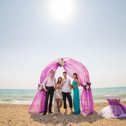 Организация церемонии на песчаном пляже