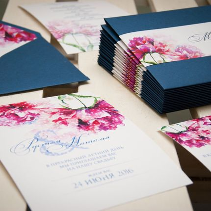 Разработка дизайна свадебной полиграфии