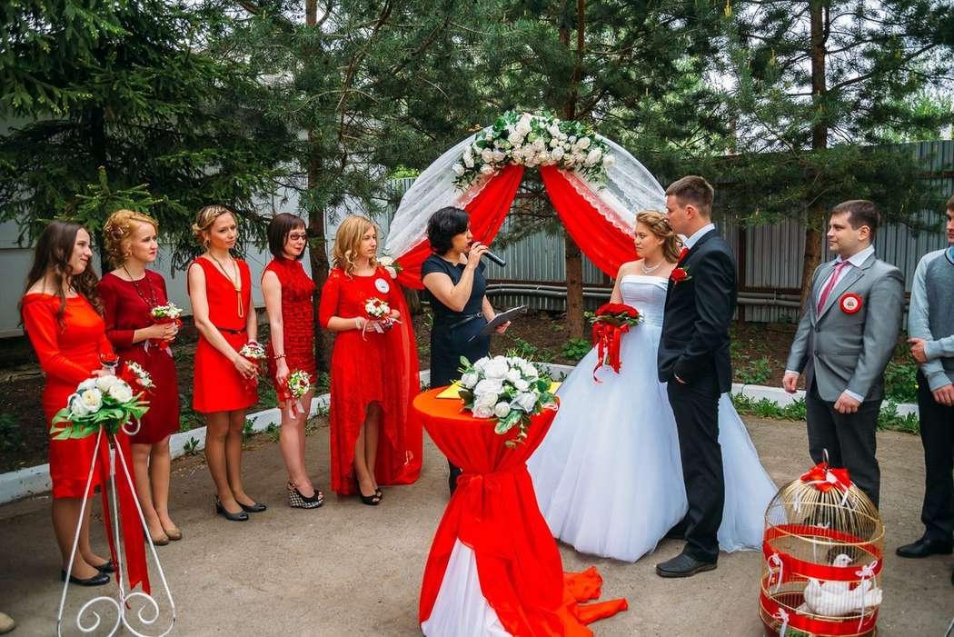 Свадьба в красном стиле фото