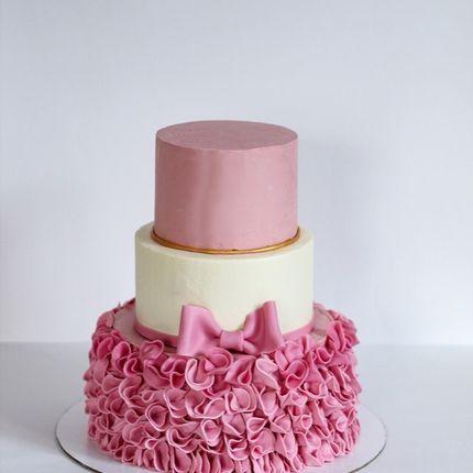Торт с живыми цветами, 6 кг