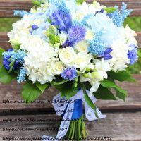 Букеты невесты Бело-сине-голубой