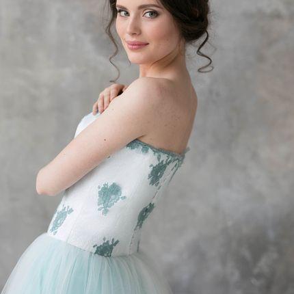 """Свадебное платье """"Бирюзовые розы"""""""