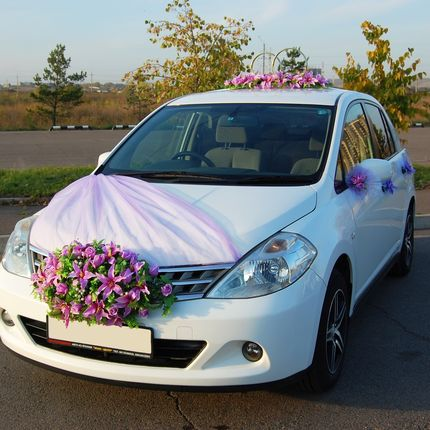 Аренда украшений для авто (розовый и фиолетовый)