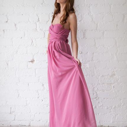 Платье Amsterdam - сиреневый шифон