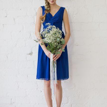 Платье Vena - синий шифон