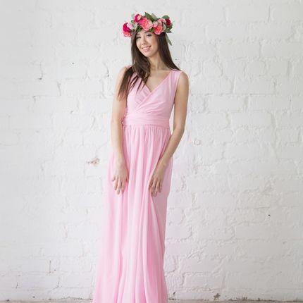 Платье Vena - розовый шифон