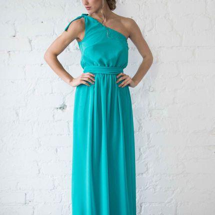 Платье Deli - бирюзовый шифон