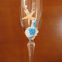 """Свадебные бокалы """"Морской бриз"""", цена 450 руб. В наличии!!!"""