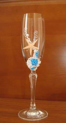 """Свадебные бокалы """"Морской бриз"""", цена 450 руб. В наличии!!! - фото 11383592 Свадебный интернет-салон Татьяны Майор"""