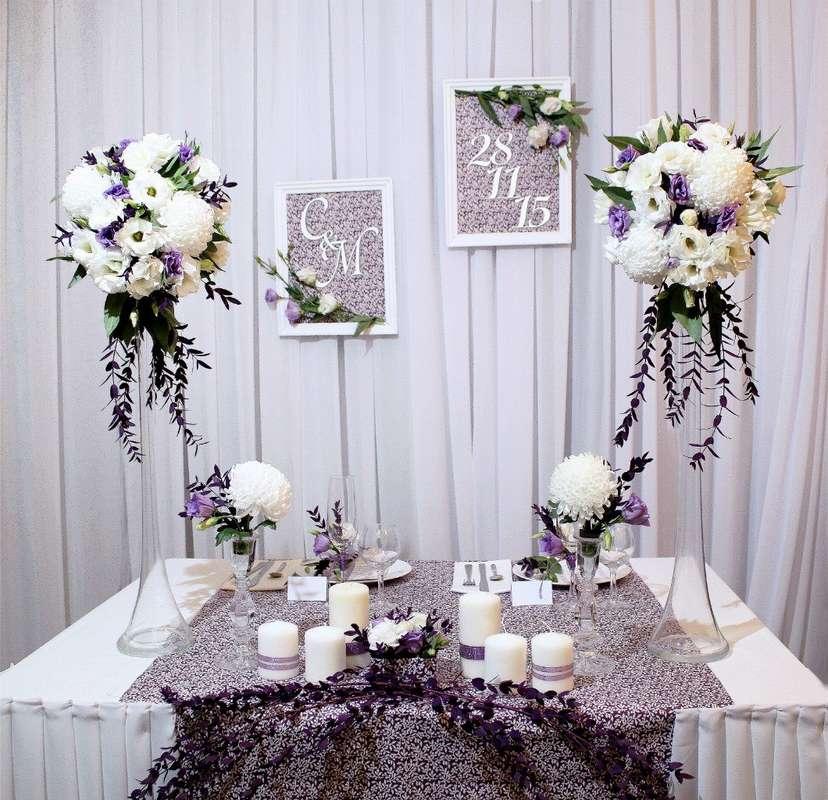 Оформление стола молодоженов #СвадебноеАгентствоМирабелла #ОрганизацияСвадьбы #Оформлениесвадьбы #Свадебныйдекор #Столмолодоженов - фото 10453930 Мирабелла свадебное агентство