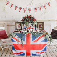 оформление  свадебной фотосесии в студии в  английской стилистике Union Jack