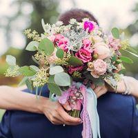Букет невесты в  романтическом стиле