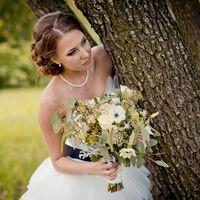Растрепанный букет невесты в стиле рустик