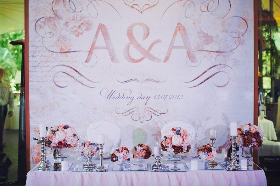 Баннер за молодыми на свадьбе