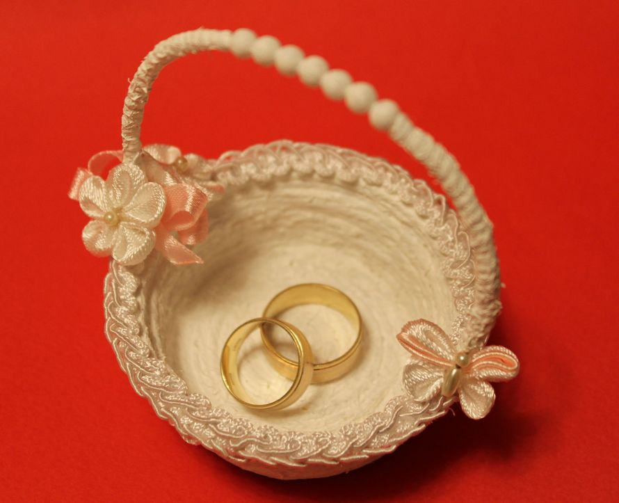 Корзиночка для колец на свадьбу своими руками мастер класс 18