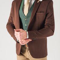 Мужской коричневый пиджак
