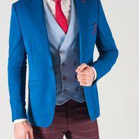 Синий пиджак для жениха