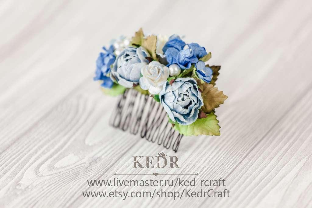 Фото 10569896 в коллекции цветочный гребень невесты - Авторская мастерская аксессуаров Kedr