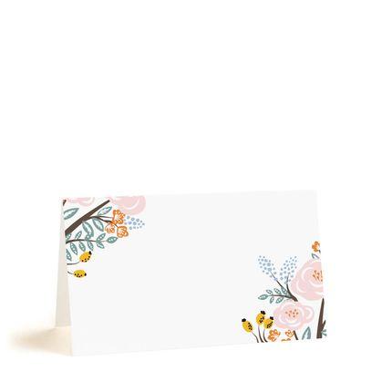 Рассадочные карточки с розовыми розами, цена за 25 шт.
