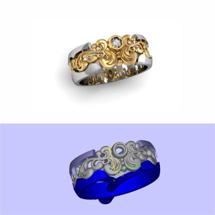 Обручальные кольца по индивидуальному дизайну