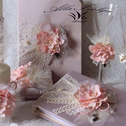 """Свадебный набор """"Пудровый розовый"""""""