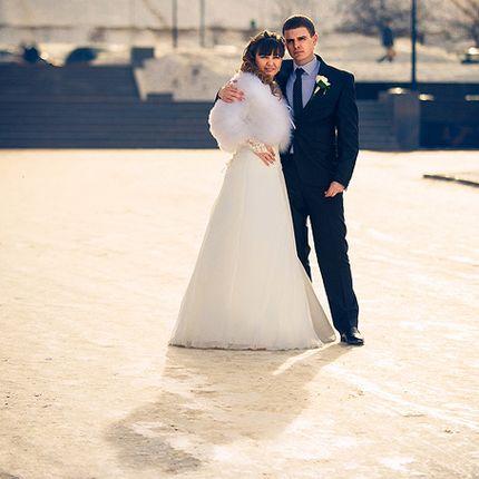 Зимняя свадебная фотография