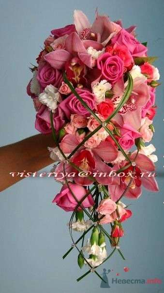 """Фото 33910 в коллекции Букет невесты и бутоньерка. - Студия флористики """"Вистерия"""""""