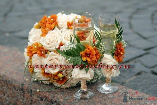 """Фото 34816 в коллекции Букет невесты и бутоньерка. - Студия флористики """"Вистерия"""""""