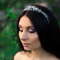 Свадебное украшение для волос с жемчугом и кристаллами