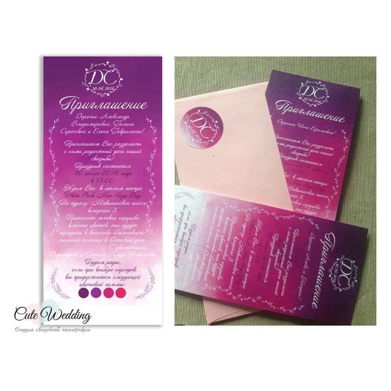 """Дизайн и результат при печати - фото 11115838 Студия полиграфии """"Cute wedding"""""""