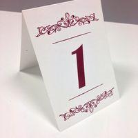 Индивидуальная разработка номеров на столы
