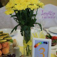 Букетики на столы гостей