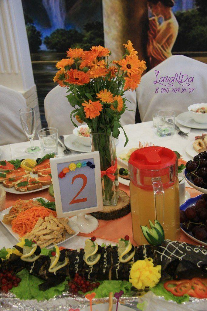 Букетики  и номерки на столы гостей  каждого цвета радуги - фото 10911538 Студия декора LavaNDa